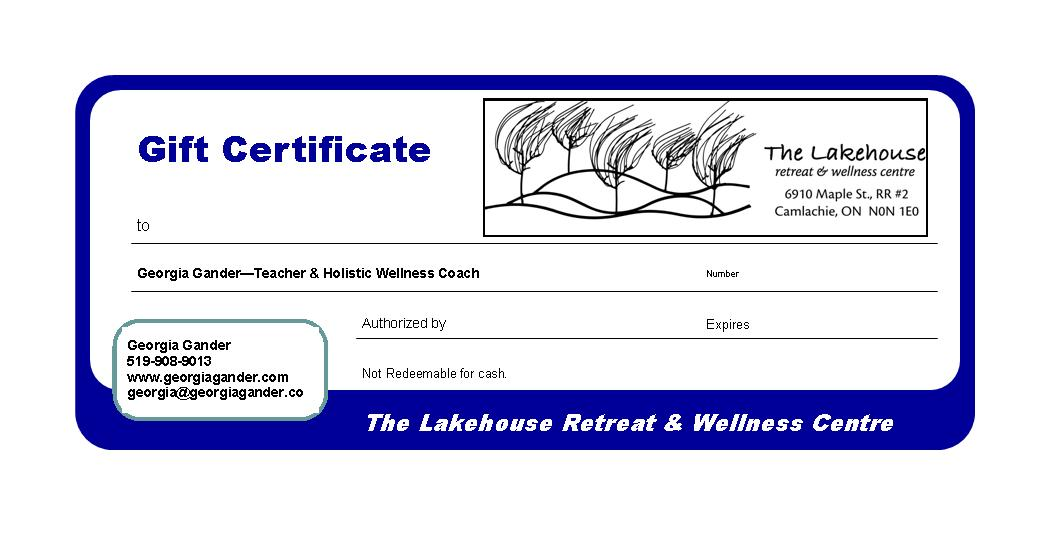 The Lakehouse Gift Certificate
